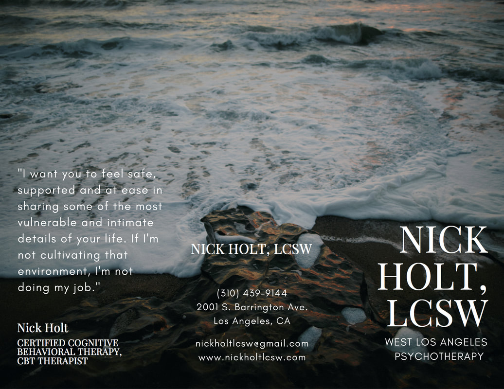 Nick Holt, LCSW a West Los Angeles Certified Cognitive Behavioral Therapy, CBT Therapist